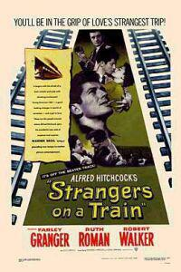 Poster for Strangers on a Train (1951).